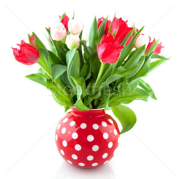 Bouquet tulips Stock photo © ivonnewierink