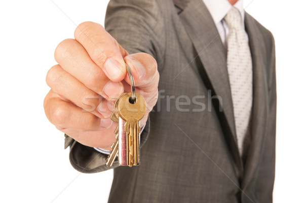 House broker with keys Stock photo © ivonnewierink