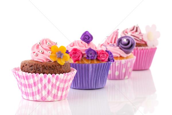 カラフル チョコレート ピンク バタークリーム ストックフォト © ivonnewierink