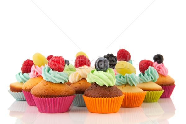 Fruit cupcakes Stock photo © ivonnewierink