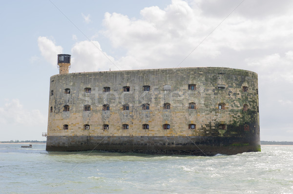 砦 フランス 海 建設 風景 アーキテクチャ ストックフォト © ivonnewierink