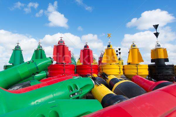 Buoys at dry Stock photo © ivonnewierink
