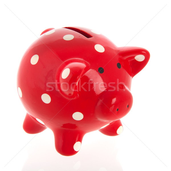 Red piggy bank Stock photo © ivonnewierink