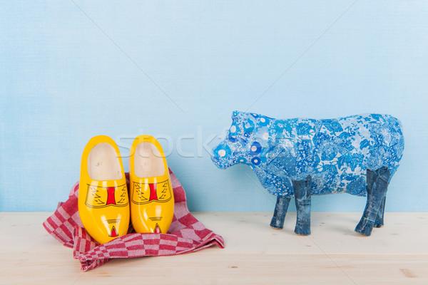 Holandés naturaleza muerta vaca vida tela Foto stock © ivonnewierink