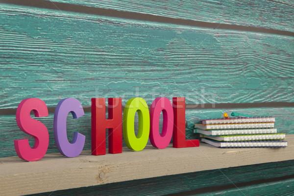 School in colorful letters Stock photo © ivonnewierink