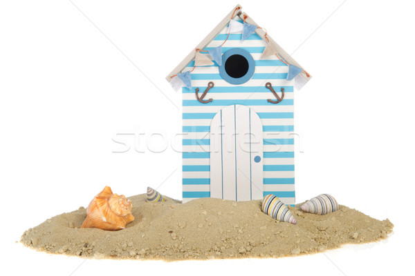 Maison de plage hutte sable obus plage maison Photo stock © ivonnewierink