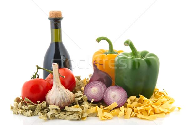 Italiano pasta ingredientes todo alimentos Foto stock © ivonnewierink