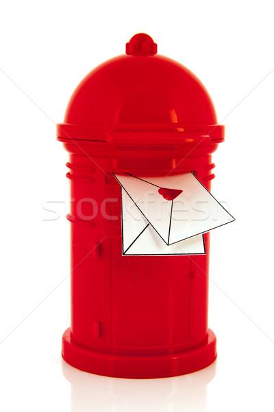Red post box Stock photo © ivonnewierink