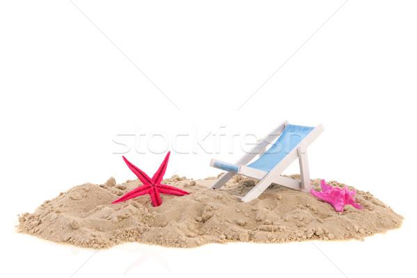şezlong arka plan sandalye beyaz stüdyo pembe Stok fotoğraf © ivonnewierink