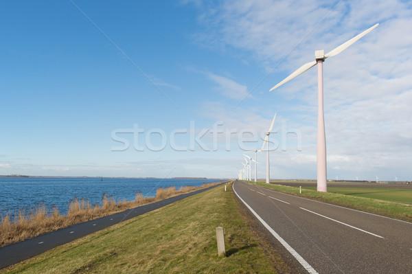 Holanda coche carretera lago energía Foto stock © ivonnewierink