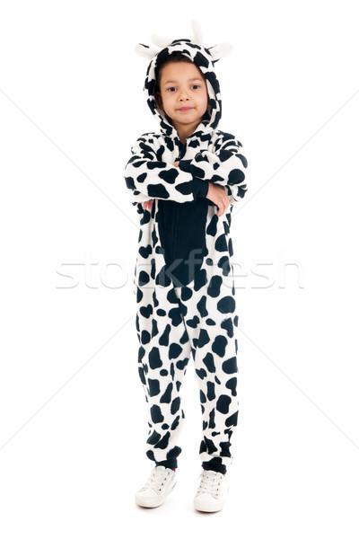 Little boy as happy cow Stock photo © ivonnewierink
