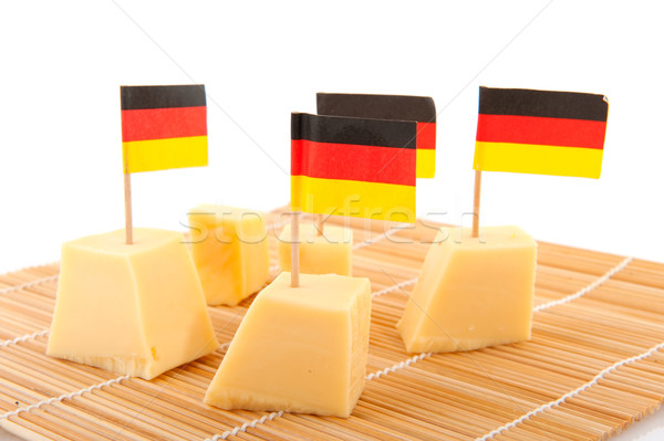Stockfoto: Kaas · vlaggen · geïsoleerd · witte