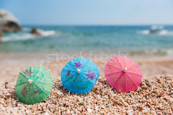 Sombra praia colorido chinês papel ensolarado Foto stock © ivonnewierink