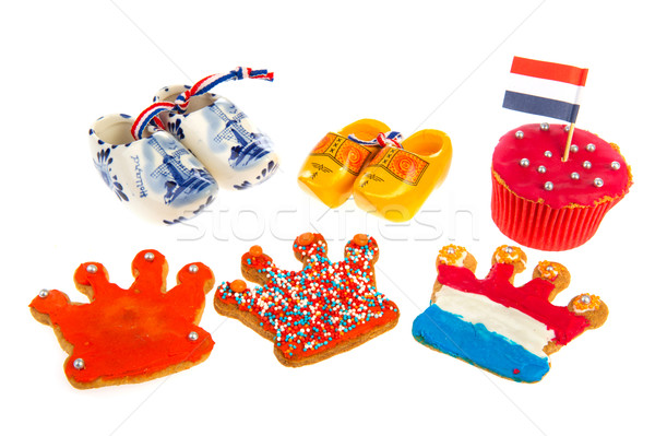 Dutch cookies and wooden clogs Stock photo © ivonnewierink
