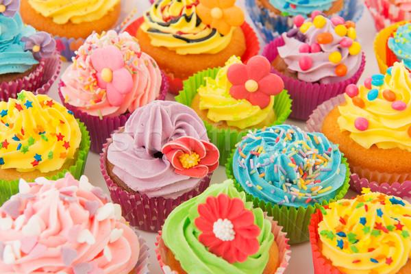 Stockfoto: Verjaardag · veel · zoete · bloemen · boter