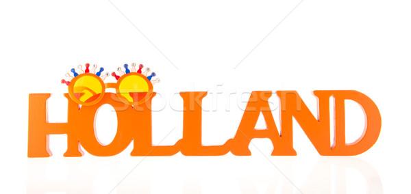 Holland oranje zonnebril achtergrond zomer studio Stockfoto © ivonnewierink