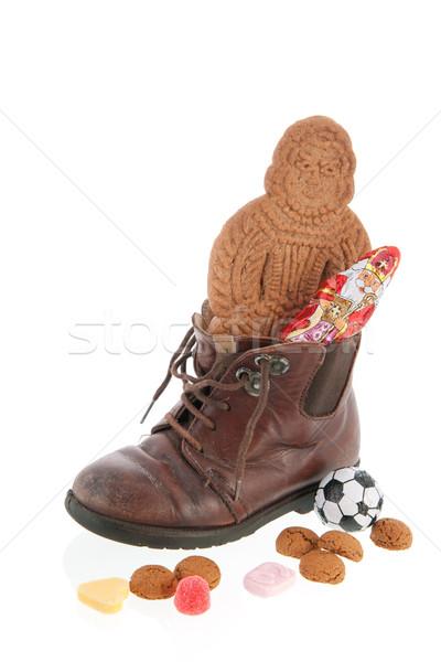 靴 オランダ語 キャンディ 子 背景 ボール ストックフォト © ivonnewierink