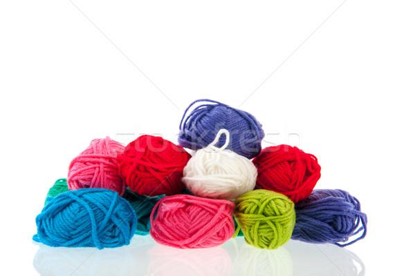 красочный шерсти многие изолированный белый Сток-фото © ivonnewierink