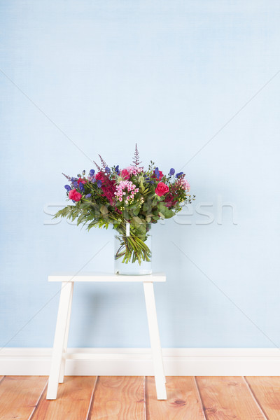 Mixed bouquet flowers on table Stock photo © ivonnewierink