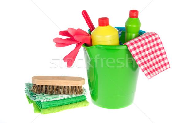 Produktów czyszczących butelek życia czyszczenia biały studio Zdjęcia stock © ivonnewierink