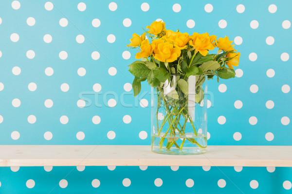 Yellow roses Stock photo © ivonnewierink