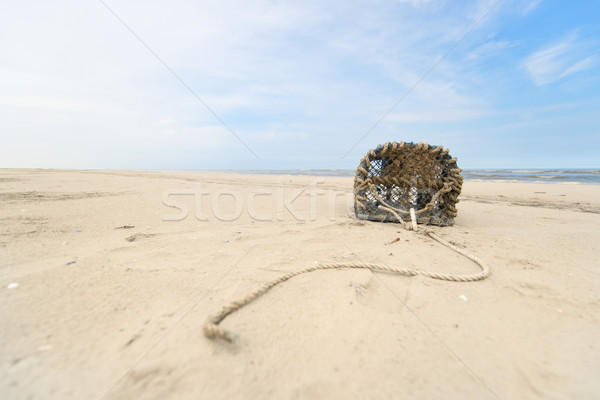Lobster trap at North sea coast Stock photo © ivonnewierink