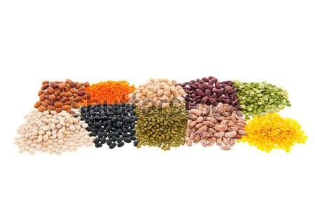 Stockfoto: Peulvruchten · geïsoleerd · witte · voedsel · oranje