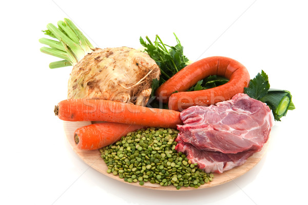 Stock photo: Ingredients Dutch pea soup