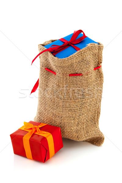 çanta hediyeler hollanda mavi beyaz stüdyo Stok fotoğraf © ivonnewierink