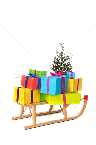 Sled with many Chirstmas presents Stock photo © ivonnewierink