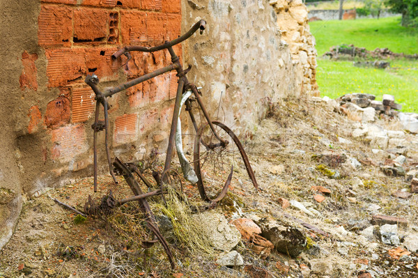 Rusty bicycle in Oradour sur Glane Stock photo © ivonnewierink