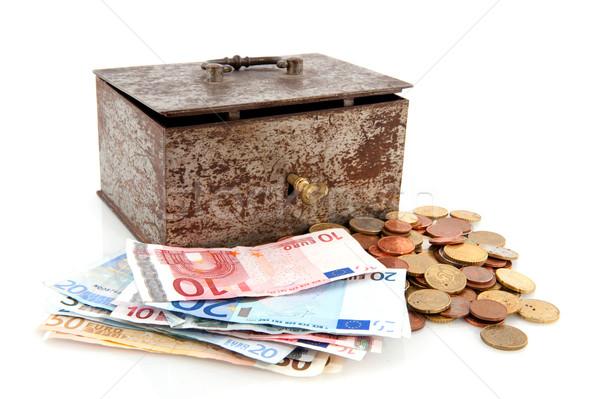 Old rusty money box with Euros Stock photo © ivonnewierink