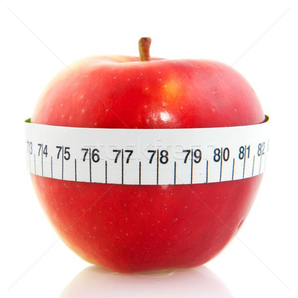 Manzana manzana roja aislado blanco alimentos Foto stock © ivonnewierink