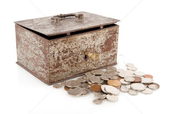 Old rusty money box Stock photo © ivonnewierink