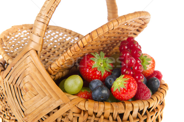 Basket fresh soft forest fruit Stock photo © ivonnewierink