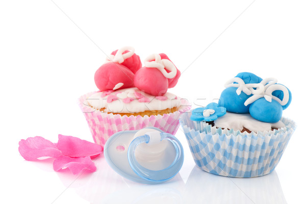 Baby cupcakes Stock photo © ivonnewierink