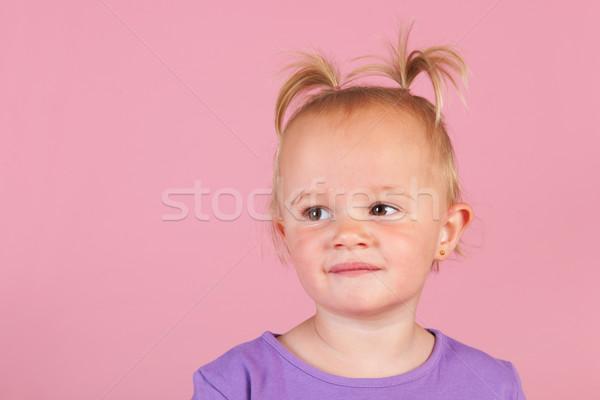 Zdjęcia stock: Dziewczyna · różowy · portret · tle · lata