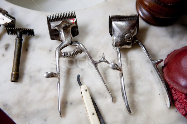 Old tools for hairdresser Stock photo © ivonnewierink