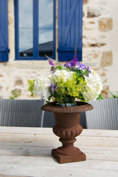 French antique vase with flowers Stock photo © ivonnewierink