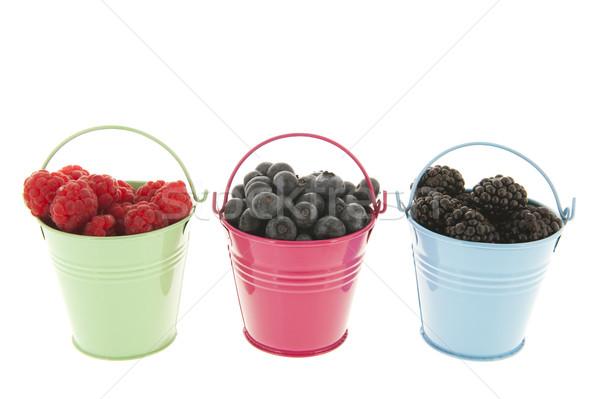 Fresh fruit in bowls Stock photo © ivonnewierink