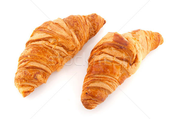 круассаны французский хлеб изолированный белый Сток-фото © ivonnewierink