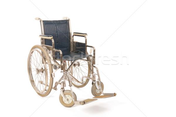 Vazio cadeira de rodas isolado branco hospital cadeira Foto stock © ivonnewierink