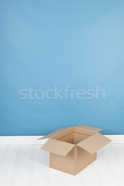 удаление дома окна интерьер синий полу Сток-фото © ivonnewierink
