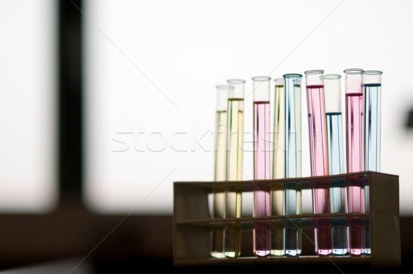Cam laboratuvar test eğitim şişeler Stok fotoğraf © ivonnewierink