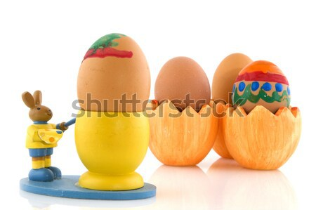 Stock photo: Eggs for easter