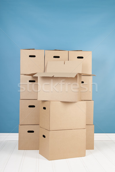 除去 家 ボックス インテリア 誰も ブラウン ストックフォト © ivonnewierink