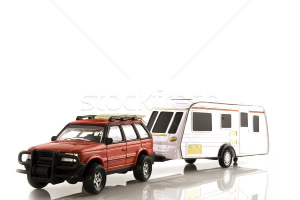 caravan with automobile Stock photo © ivonnewierink