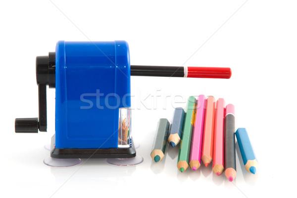 Farbują temperówka kolorowy ołówki narzędzie kolory Zdjęcia stock © ivonnewierink