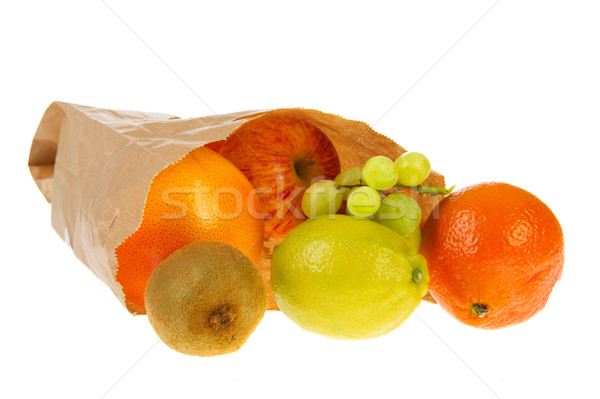 Paper bag with various fruit Stock photo © ivonnewierink