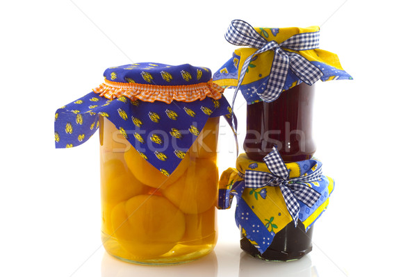 Preserved fruit Stock photo © ivonnewierink